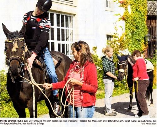 Zeitungsartikel Das Pferd rückt den Reiter gerade