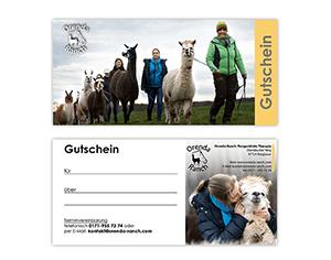 Geschenkgutschein Lama / Alpaka